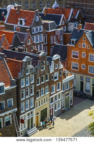 architecture and old houses Holland with a bird's-eye view