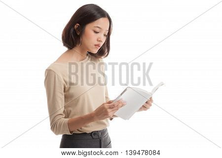 Young Asian Business Woman With A Book