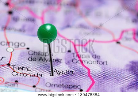 Ayutla pinned on a map of Mexico