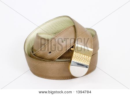Leather Belt And Buckle