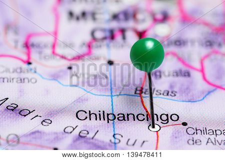 Chilpancingo pinned on a map of Mexico