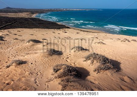 Sand Dunes. Beach view on the Baia das Gatas