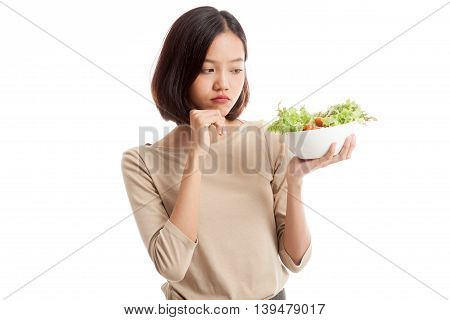 Asian Business Woman Hate Salad