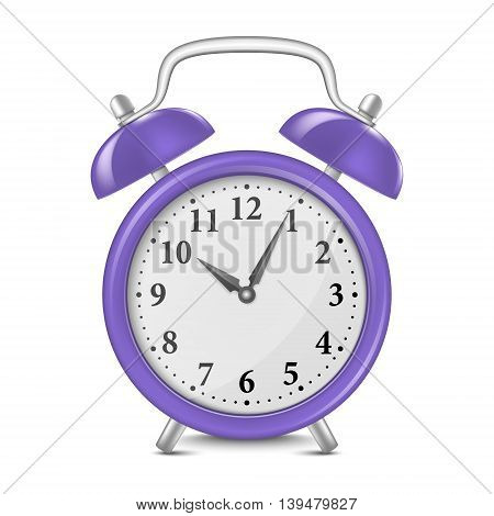 Alarm clock isolated on white. Vector EPS10 illustration.