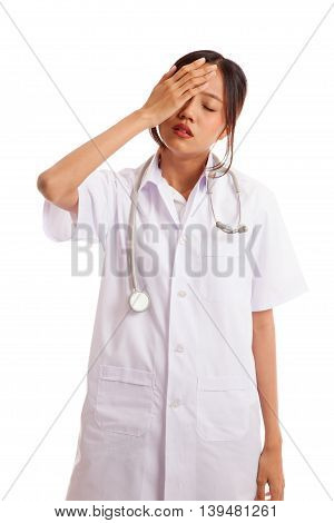 Asian Young Female Doctor Got Headache