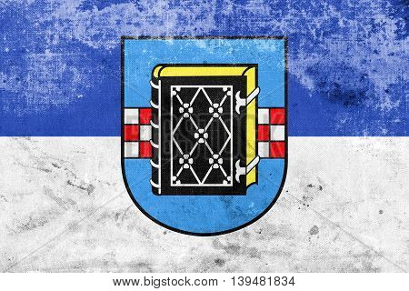 Flag Of Bochum With Coat Of Arms, Germany, With A Vintage And Ol
