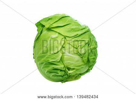cabbage brussels green isolated on white background