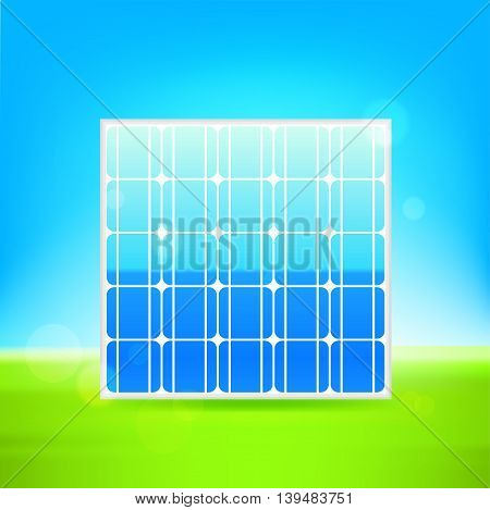 Solar panel vector icon background illustration 10 eps.