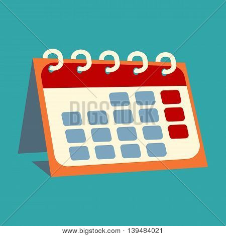 Icon of the calendar, colorful vector flat illustration