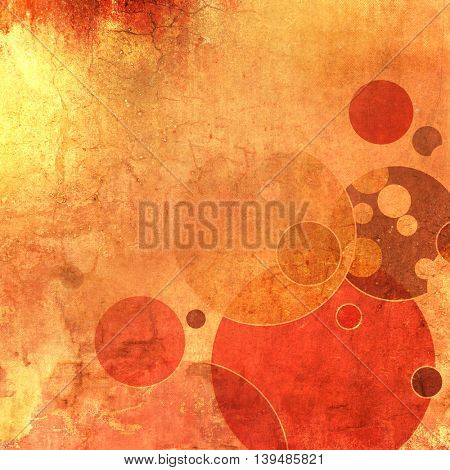 Grunge orange background abstract with circles