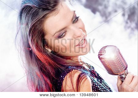Singing Girl on stage
