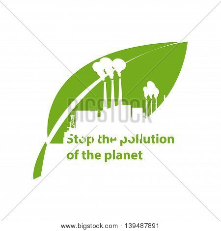 Eco icon of Ecological industry on white background .Vector illustration