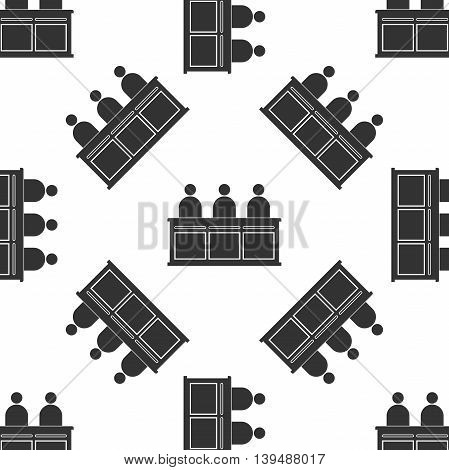 Jurors icon seamless pattern on white background. Vector Illustration