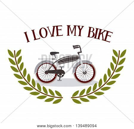 bicycle frame isolated icon design, vector illustration  graphic