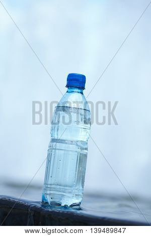 water in the bottle