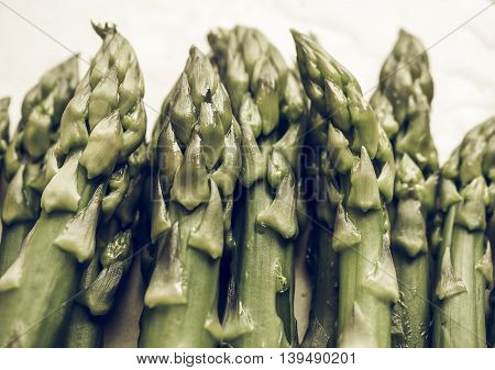 Asparagus Vegetable Vintage Desaturated