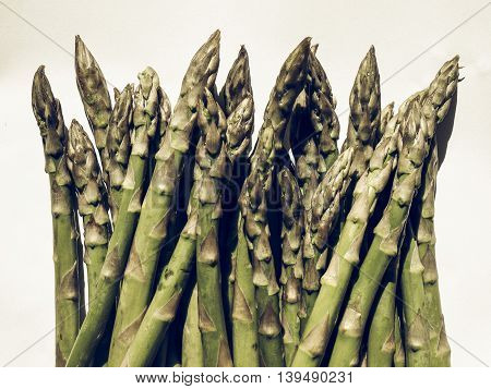 Green Asparagus Vegetables Vintage Desaturated