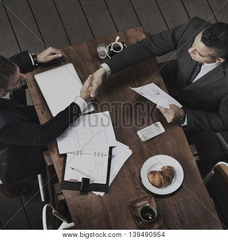 Deal Agreement Success Contract Handshake Concept