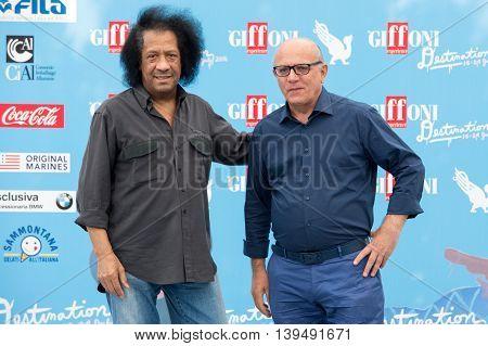 Musician James Senese And Claudio Gubitosi
