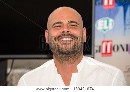 Giffoni Valle Piana SA ITALY - July 16 2016: Actor Marco d'Amore poses at master class during the 46th Giffoni Film Festival