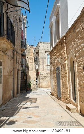 Perspective of an alleyway of Giovinazzo. Puglia. Southern Italy.
