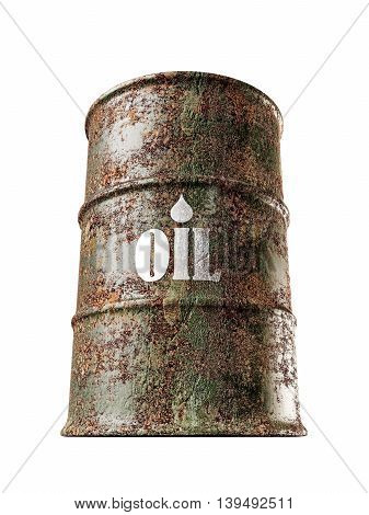 3d illustration of an oil barrel can isolated on white background