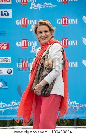 Giffoni Valle Piana SA ITALY - July 17 2016: Actor Fioretta Mari attends Giffoni Film Festival