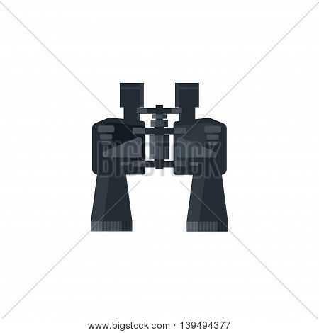 Binoculars in a flat style.Travel and hiking, camping. Vector illustration