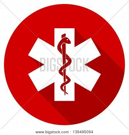 emergency red vector icon
