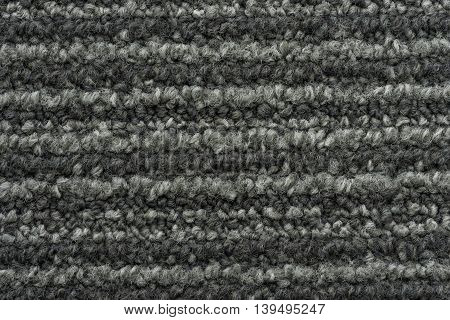 black and white gray color of rug texture for background - can use to display or montage on products