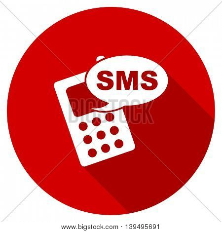 sms red vector icon