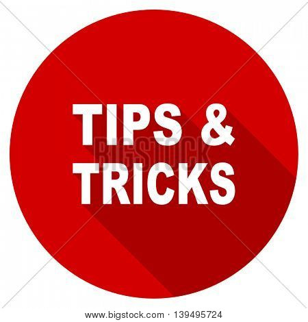 tips tricks red vector icon