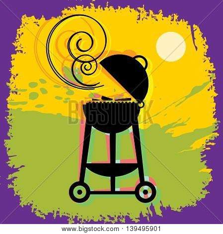 BBQ or Grill abstract background, vector illustration
