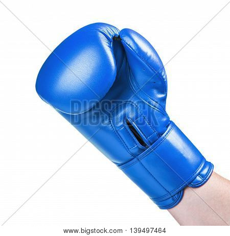 leather boxing glove red isolated on white background