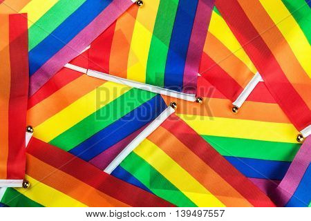LGBT rainbow flags background Community standard shine