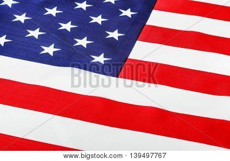 American flag Close-up. focus on flag stars