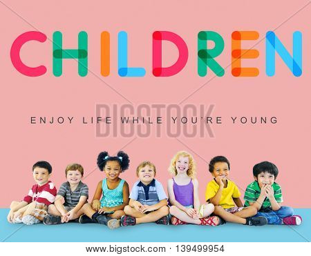 Children Enjoy Life Young Age Concept