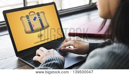 Travel Luggage Suitcase Journey Click Concept