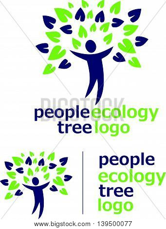 people ecology tree logo concept designed in a simple way so it can be use for multiple proposes like logo ,mark ,symbol or icon.