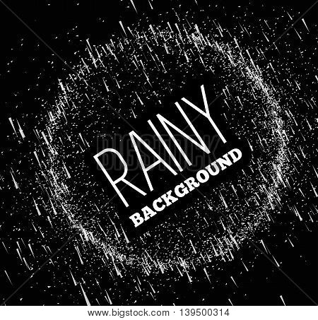 Rainy sky vector illustration on a black background. Place on top of your image in the screen mode