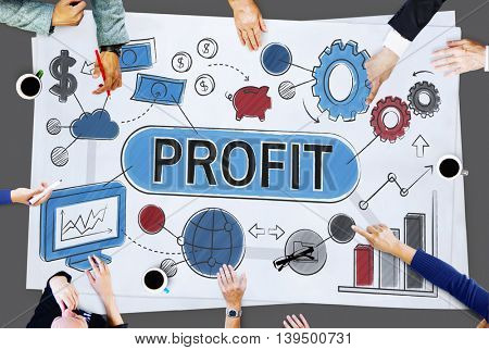 Profit Income Savings Banking Money Concept