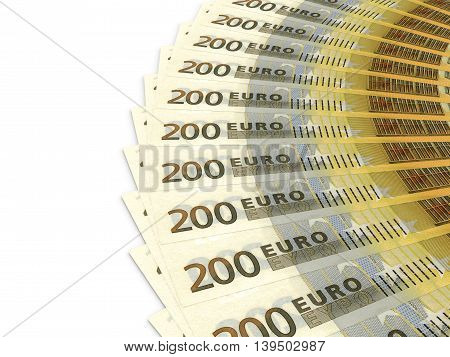 Money Fan. Two Hundred Euros.