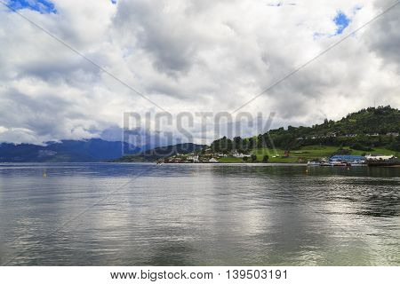 This is coast Hardangerfjord which is the third longest in the world and the second in Norway.