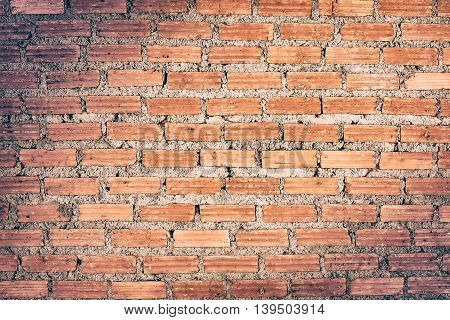 Background of brick wall texture, brick wall display shelf of product background
