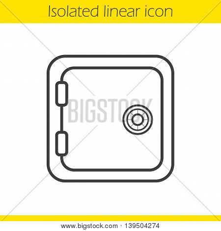 Deposit box linear icon. Thin line illustration. Bank vault contour symbol. Vector isolated outline drawing