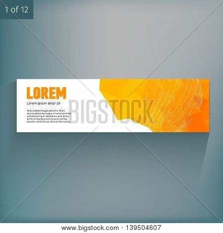 Template for advertising and corporate identity. Banner. Blank mockup for design. Vector white object