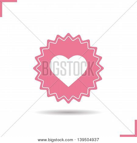 Love sign color icon. Sex shop banner. Heart vector isolated illustration