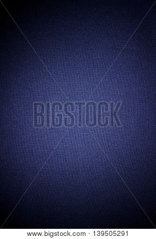 Close-up fabric blue textile texture to background