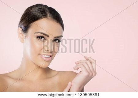 Beauty Spa Woman with perfect skin Portrait.