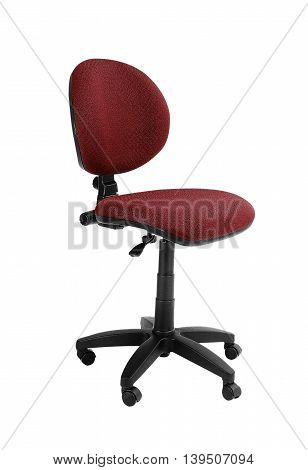 Red office chair isolated on a white background